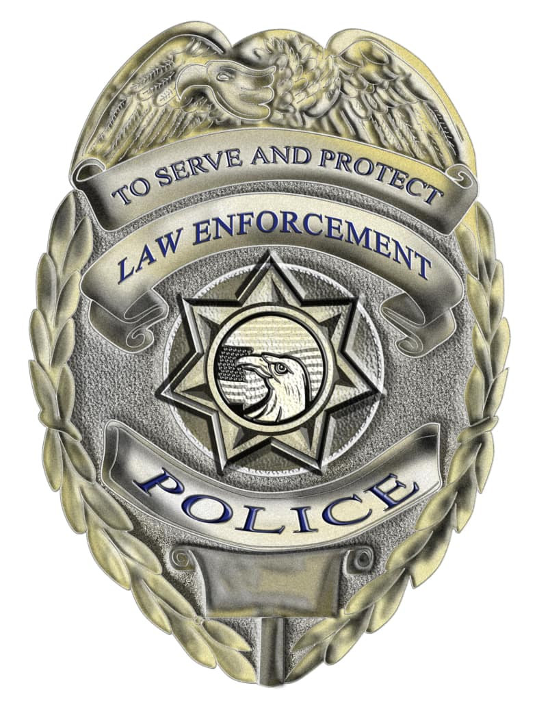 Illustration of a police badge